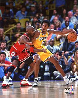 Kobe Bryant & Michael Jordan 1998 Chicago Bulls LA Los Angel