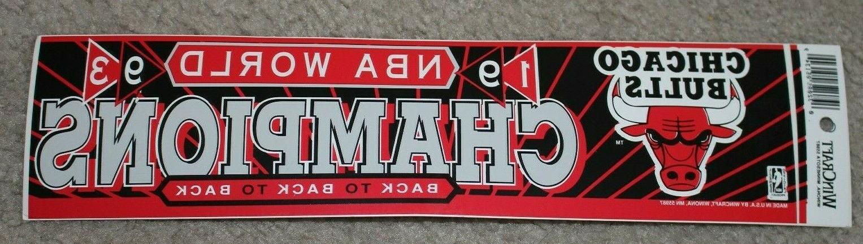 1993 chicago bulls world champions bumper sticker