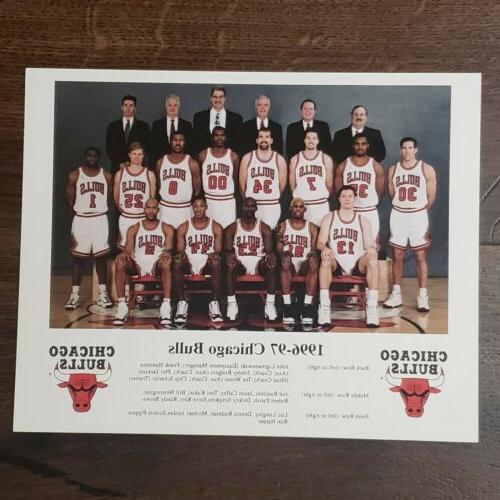 1996 97 chicago bulls team 8x10 nba