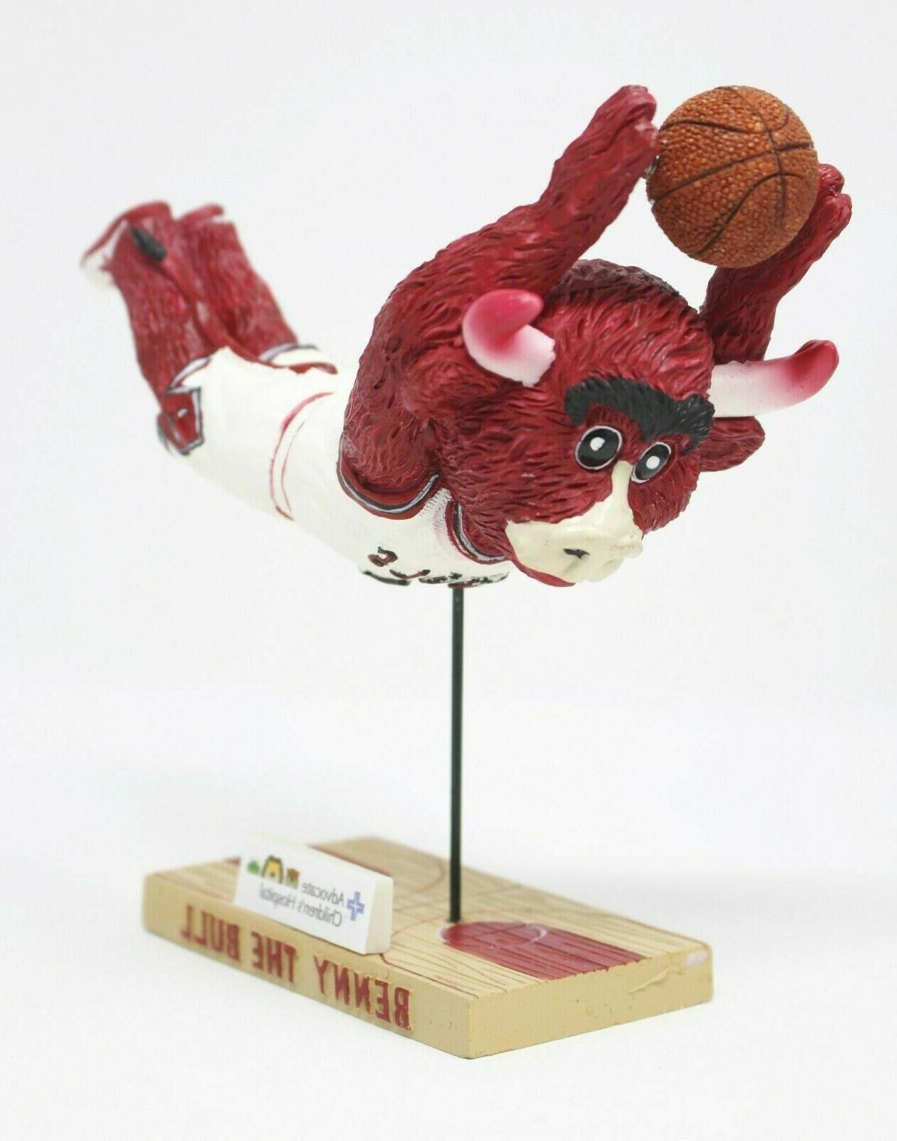 benny the bull chicago bulls nba bobblehead