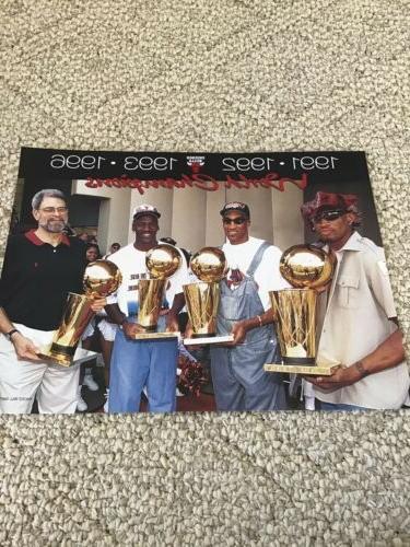 chicago bulls 1996 world champs 8x10 trophie