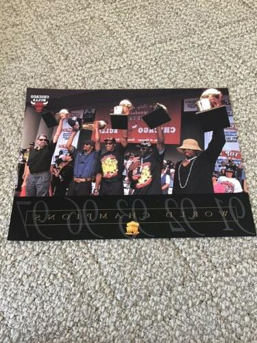 chicago bulls 1997 world champs 8x10 trophie