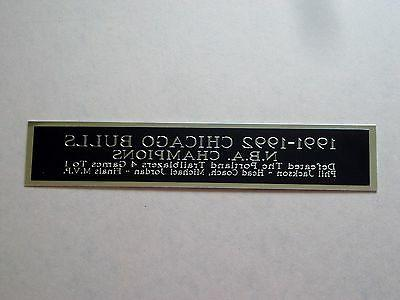 Chicago Bulls Nameplate For A 1991-1992 Basketball Jersey Di