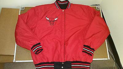 chicago bulls basketball jacket black red size
