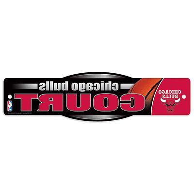 chicago bulls court nba team logo wall