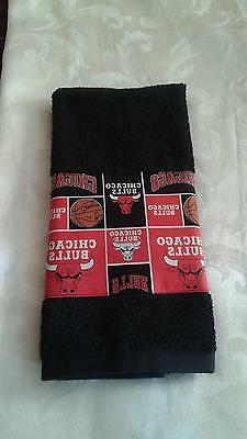 Chicago Bulls Hand Towel Handmade  GREAT GIFT!!! GREAT FOR G
