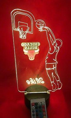 Chicago Bulls NBA Basketball Player Light Up Light Lamp LED