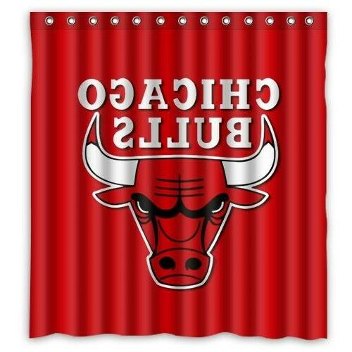 chicago bulls nba basketball shower curtain limited