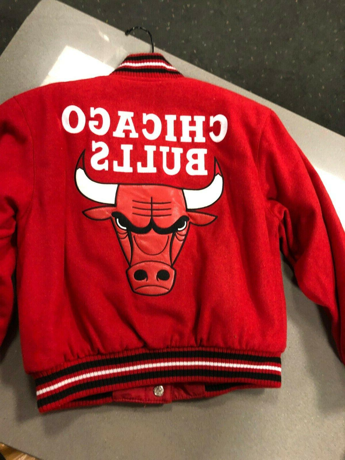 Chicago Bulls J YOUTH/BOYS WOOL JACKET REVERSIBLE RED
