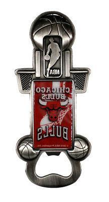 Chicago Bulls NBA Party Starter Magnetic Metal Bottle Opener
