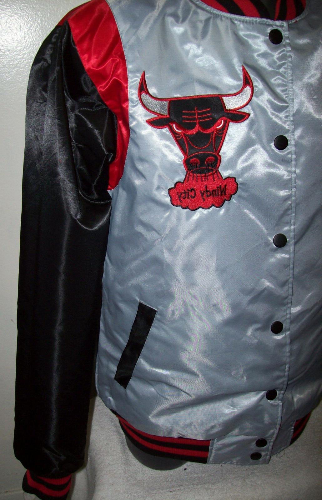 CHICAGO BULLS Satin XL RED BLACK