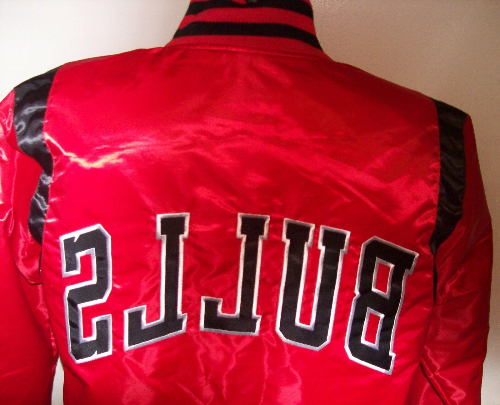 CHICAGO Satin Jacket XL RED & BLACK