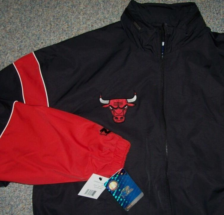 "CHICAGO BULLS ""Gust"" BLACK & RED Logos LARGE"
