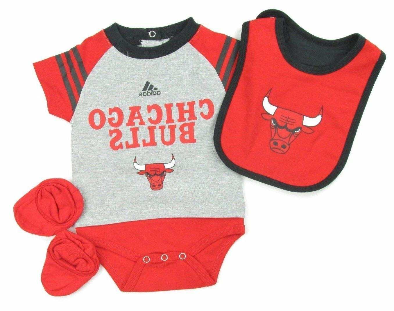 chicago bulls team apparel booties and bib