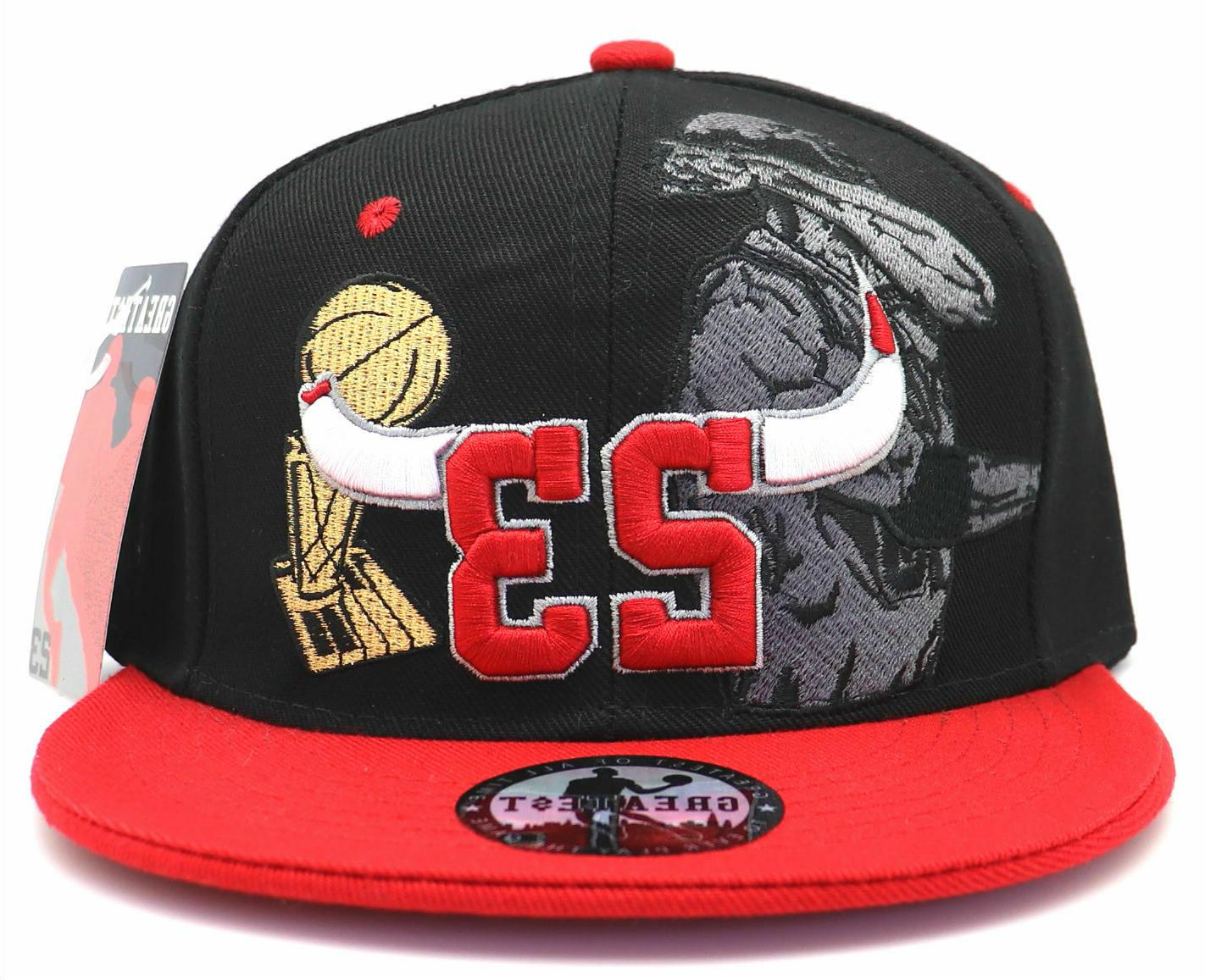 Chicago Greatest 23 Bulls Red Trophy Hat Cap