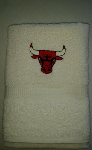 custom personalize chicago basketball embroidered bath or