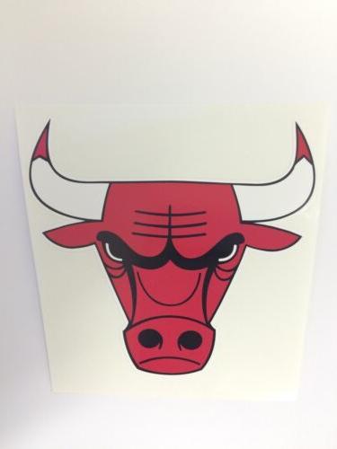 nba chicago bulls vinyl bumper sticker decal