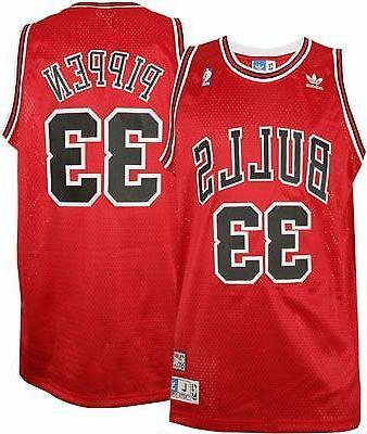 scottie pippen 33 chicago bulls red throwback