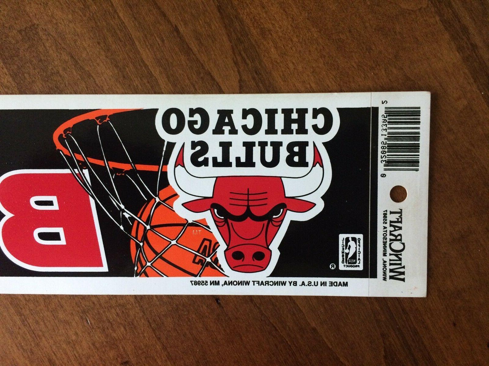 Vintage Chicago Bulls Bumper Stock NOS