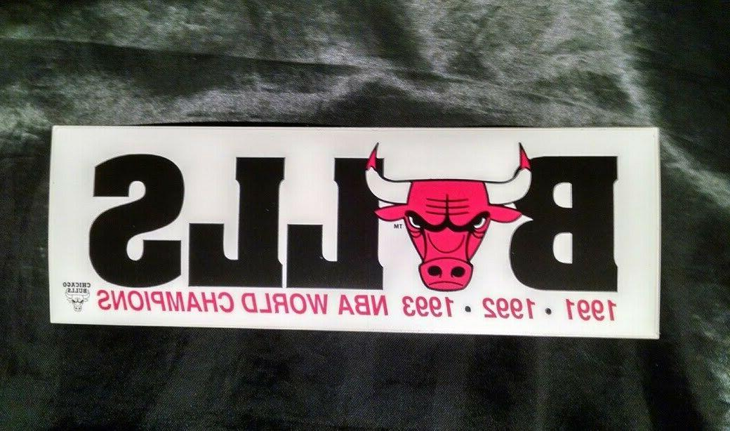 92 93 Champion Chicago Bulls Stickers