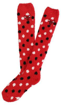 FBF Originals Womens Chicago Bulls Sleepsoft Polka Socks Red