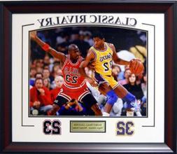 LA Lakers Magic Johnson & Chicago Bulls Michael Jordan Frame