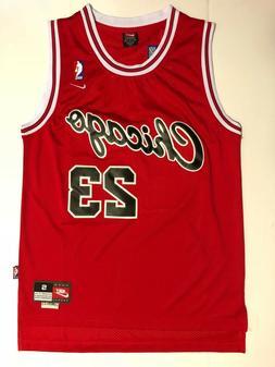 Men's Chicago Bulls #23Michael Jordan Throwback Swingman Bas
