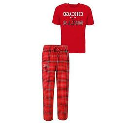Men's Chicago Bulls Pajama Pants and T-Shirt Sleepwear Set