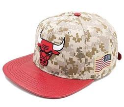 Pro Standard Men's NBA Chicago Bulls Leather Strap Back Hat