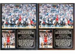 Michael Jordan #23 The Final Shot Chicago Bulls Photo Plaque