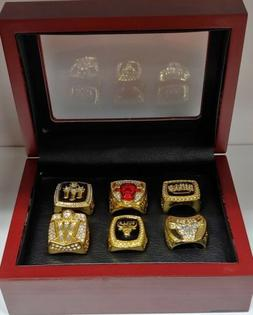 Michael Jordan - Chicago Bulls 6 Championship Ring Set WITH