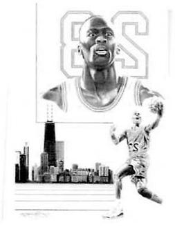Michael Jordan Chicago Bulls Limited Edition Lithograph By J