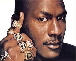 MICHAEL JORDAN CHICAGO BULLS RINGS 8 X 10 PHOTO