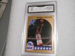 Michael Jordan GRADED CARD!! 1990 Hoops #5 Chicago Bulls HOF