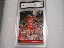 Michael Jordan GRADED CARD!! 1992 Upper Deck #488 Chicago Bu