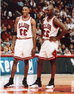 Michael Jordan Scottie Pippen Chicago Bulls Poster Art Photo