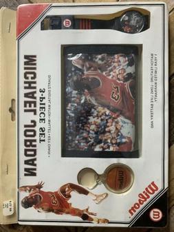 Michael Jordan vintage 3 piece Wilson Watch, Wallet, & Keych