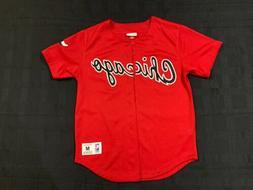 Mitchell And Ness Chicago Bulls Baseball Jersey Size Men's