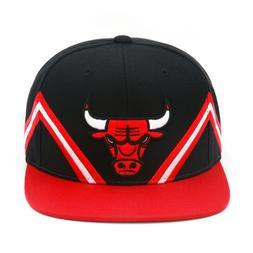 "Mitchell & Ness Chicago Bulls Snapback Hat Cap ""Stripe Peaks"