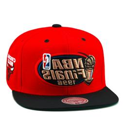 Mitchell & Ness Chicago Bulls Snapback Hat RED/Black/Copper