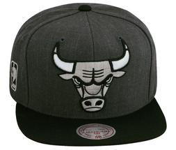 Mitchell & Ness Chicago Bulls Snapback Hat Cap Dark Heather