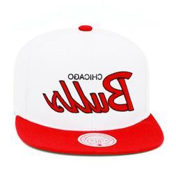 Mitchell & Ness Chicago Bulls Snapback Hat Cap 2-tone White/