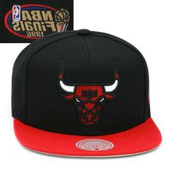 Mitchell & Ness Chicago Bulls Snapback Hat Cap Black/Red/NBA