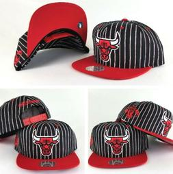 Mitchell & Ness NBA Chicago Bulls Black / Red pinstripe snap