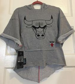 NBA 4her UNK Chicago Bulls Jersey Tunic Sweat Shirt Bat Wing