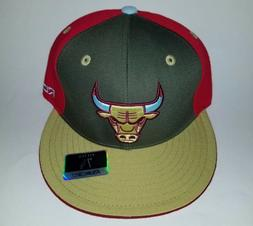 REEBOK NBA Chicago Bulls 3D embroidered hat Fitted Flat-bill