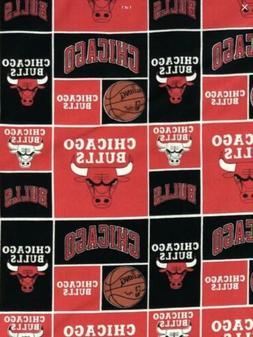 NBA Chicago Bulls Basketball Cotton Fabric - 1/2 Yard  New