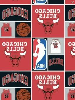"NBA Chicago Bulls Basketball Cotton Fabric - Remnant, 12""x"