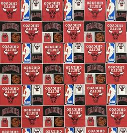 NBA Chicago Bulls Basketball Cotton Fabric sold by the HALF