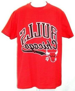 NBA Chicago Bulls Basketball Red & Black Team Logo T-Shirt